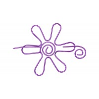 Nirvana Daisy Shawl Pin - Purple