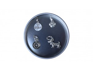 Pewter Stitch Markers Tin - Dog Collection