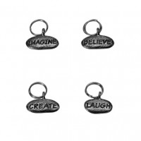 Pewter Stitch Markers - Phrase Collection