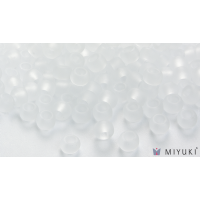 Miyuki 6/0 Glass Beads 131F - Transparent Frost Crystal approx. 30 grams