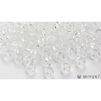 Miyuki 6/0 Glass Beads 131 - Transparent Crystal approx. 30 grams
