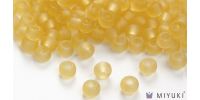 Miyuki 8/0 Glass Beads 132F - Transparent Frost Pale Gold approx. 30 grams