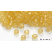 Miyuki 6/0 Glass Beads 132F - Transparent Frost Pale Gold approx. 30 grams
