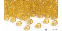 Miyuki 6/0 Glass Beads 132 - Transparent Pale Gold approx. 30 grams