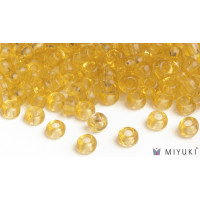 Miyuki 8/0 Glass Beads 132 - Transparent Pale Gold approx. 30 grams