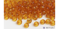 Miyuki 8/0 Glass Beads 133 - Transparent Amber approx. 30 grams