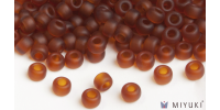 Miyuki 8/0 Glass Beads 134F - Transparent Frost Copper approx. 30 grams
