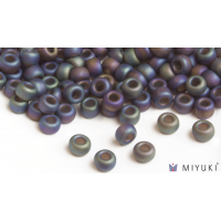 Miyuki 6/0 Glass Beads 135FR - Transparent Frost Root Beer AB approx. 30 grams