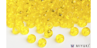 Miyuki 8/0 Glass Beads 136 - Transparent Yellow approx. 30 grams