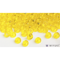 Miyuki 6/0 Glass Beads 136 - Transparent Yellow approx. 30 grams