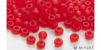 Miyuki 8/0 Glass Beads 140F - Transparent Frost Red approx. 30 grams