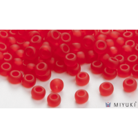 Miyuki 6/0 Glass Beads 140F - Transparent Frost Red approx. 30 grams