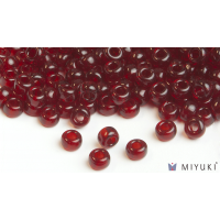 Miyuki 6/0 Glass Beads 141D - Transparent Dark Ruby approx. 30 grams