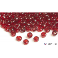 Miyuki 8/0 Glass Beads 141 - Transparent Ruby approx. 30 grams