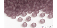 Miyuki 8/0 Glass Beads 142F - Transparent Frost Lilac approx. 30 grams