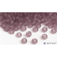 Miyuki 6/0 Glass Beads 142F - Transparent Frost Lilac approx. 30 grams