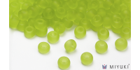 Miyuki 6/0 Glass Beads 143F - Transparent Frost Chartreuse approx. 30 grams