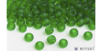 Miyuki 6/0 Glass Beads 146F - Transparent Frost Grass Green approx. 30 grams