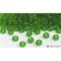 Miyuki 8/0 Glass Beads 146F - Transparent Frost Grass Green approx. 30 grams