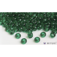 Miyuki 8/0 Glass Beads 147 - Transparent Light Emerald approx. 30 grams