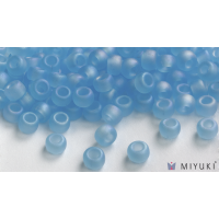 Miyuki 6/0 Glass Beads 148FR - Transparent Frost Light Blue AB approx. 30 grams