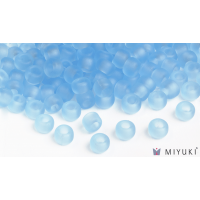 Miyuki 6/0 Glass Beads 148F - Transparent Frost Light Blue approx. 30 grams