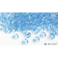 Miyuki 6/0 Glass Beads 148 - Transparent Light Blue approx. 30 grams