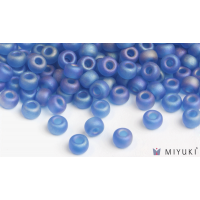 Miyuki 6/0 Glass Beads 149FR - Transparent Frost Capri Blue AB approx. 30 grams
