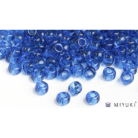 Miyuki 8/0 Glass Beads 149 - Transparent Capri Blue approx. 30 grams