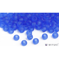 Miyuki 6/0 Glass Beads 150F - Transparent Frost Cornflower approx. 30 grams