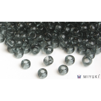 Miyuki 8/0 Glass Beads 152 - Transparent Pewter approx. 30 grams