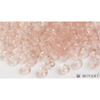 Miyuki 8/0 Glass Beads 155 - Transparent Pale Pink approx. 30 grams