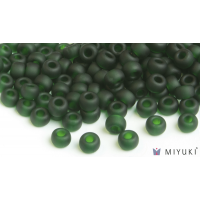 Miyuki 6/0 Glass Beads 156F - Transparent Frost Deep Emerald approx. 30 grams