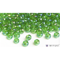 Miyuki 8/0 Glass Beads 179L - Transparent Light Green AB approx. 30 grams