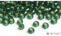 Miyuki 8/0 Glass Beads 17 - Silverlined Emerald approx. 30 grams