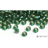 Miyuki 6/0 Glass Beads 17 - Silverlined Emerald approx. 30 grams