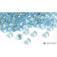 Miyuki 6/0 Glass Beads 18 - Silverlined Pale Sky Blue approx. 30 grams