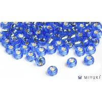 Miyuki 6/0 Glass Beads 19 - Silverlined Cornflower Blue approx. 30 grams