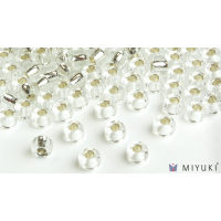 Miyuki 6/0 Glass Beads 1 - Silverlined Crystal approx. 30 grams