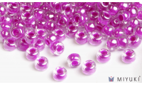Miyuki 6/0 Glass Beads 209 - Fuchsia Lined Crystal AB approx. 30 grams