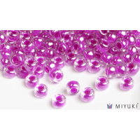 Miyuki 8/0 Glass Beads 209 - Fuchsia Lined Crystal AB approx. 30 grams