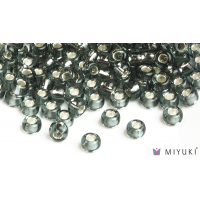 Miyuki 8/0 Glass Beads 21 - Silverlined Pewter approx. 30 grams