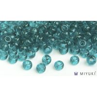 Miyuki 8/0 Glass Beads 2405 - Transparent Teal approx. 30 grams