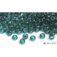 Miyuki 8/0 Glass Beads 2406 - Transparent Dark Teal approx. 30 grams