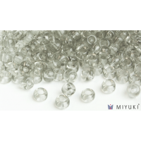 Miyuki 8/0 Glass Beads 2412 - Transparent Pale Silver approx. 30 grams
