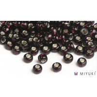 Miyuki 6/0 Glass Beads 2428 - Silverlined Dark Violet approx. 30 grams