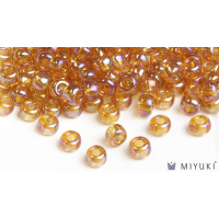 Miyuki 6/0 Glass Beads 2456 - Transparent Gold AB approx. 30 grams