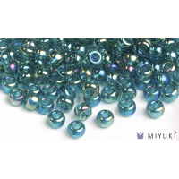 Miyuki 8/0 Glass Beads 2458 - Transparent Teal AB approx. 30 grams