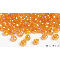 Miyuki 8/0 Glass Beads 2460 - Transparent Orange AB approx. 30 grams