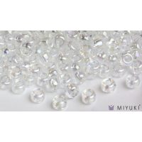 Miyuki 8/0 Glass Beads 250 - Transparent Crystal AB approx. 30 grams